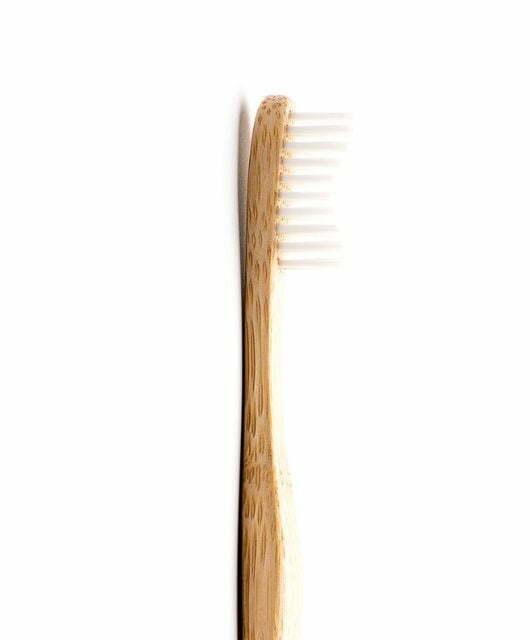 Odrasla bambus zobna ščetka bela – Soft