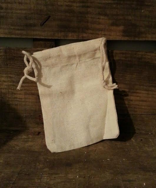 Dodatna mala bombažna vrečka za pralne oreščke