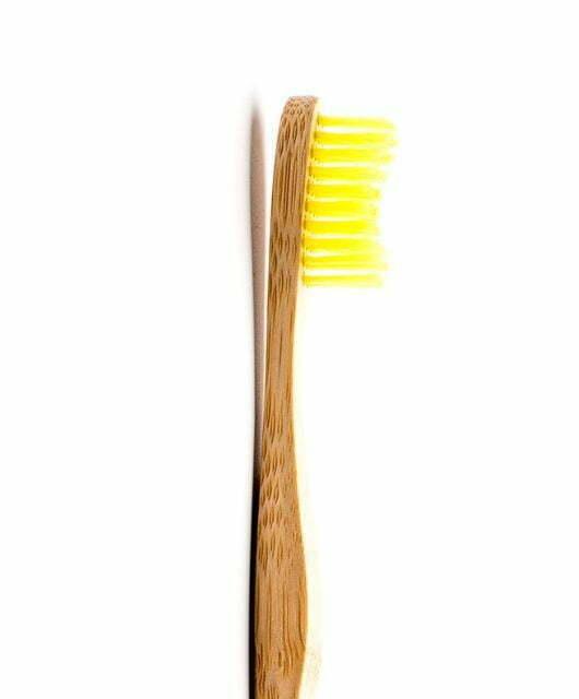 Odrasla bambus zobna ščetka rumena – Soft