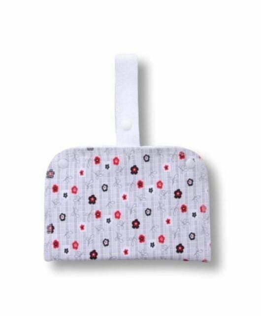Nepremočljiva dvodelna torbica S s trakom – cvetje v jeseni