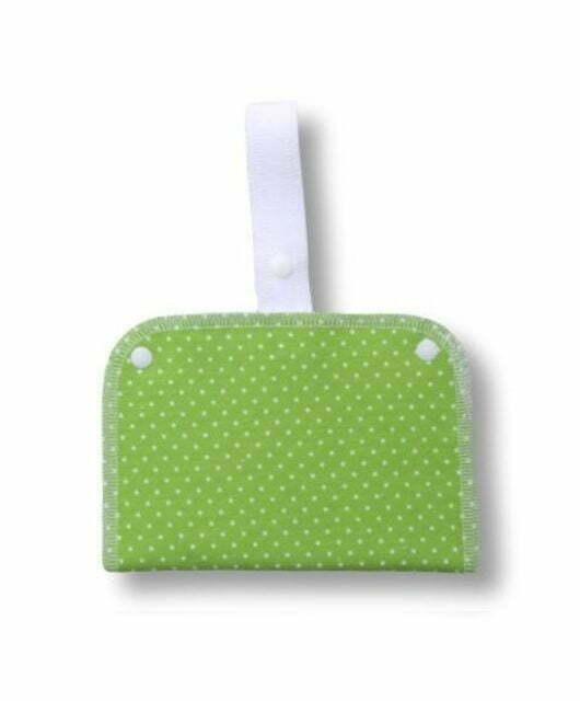 Nepremočljiva dvodelna torbica S s trakom – Pikica zelena