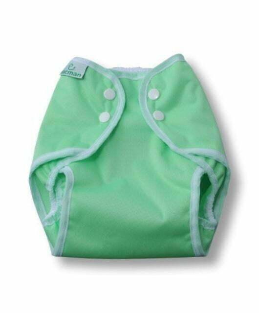 Prekrivne hlačke s pritiskači – zelena